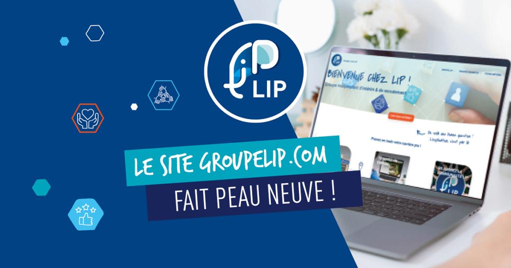 nouveau site web groupe lip
